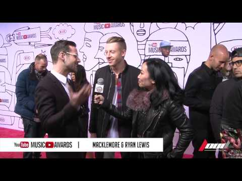 Miss Info interviews Macklemore & Ryan Lewis at the 2013 YouTube Music Awards