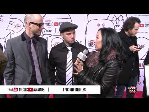 Miss Info interviews Epic Rap Battles at the 2013 YouTube Music Awards